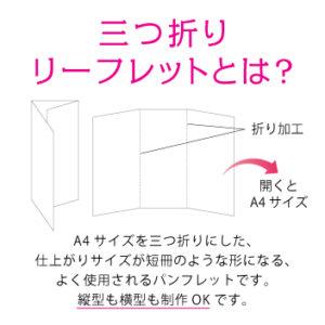三つ折りリーフレットのサイズ